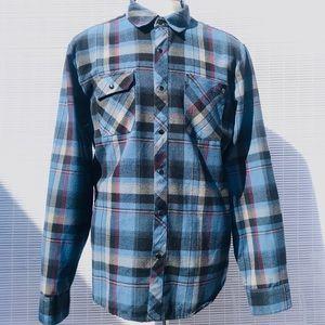 Volcom Men'sFlannel Shirt Sz Large